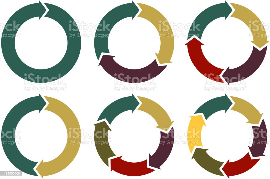 vector circle arrows for infographic vector art illustration
