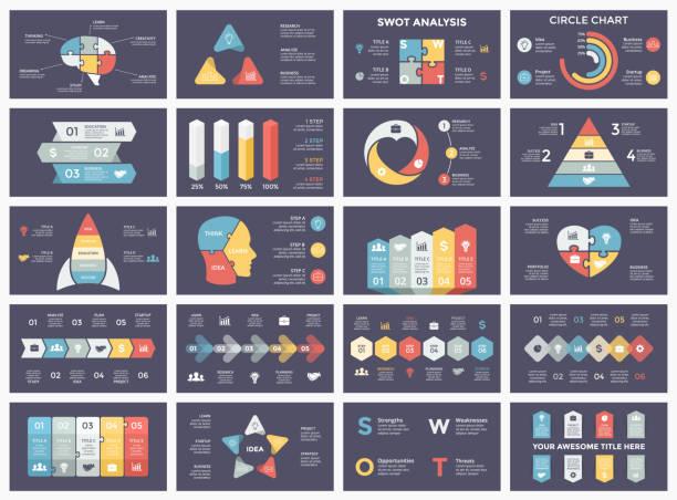サークル矢印インフォ グラフィックをベクトル、サイクル図、ビジネス グラフ、プレゼンテーションのグラフ。オプション、部品、ステップ、プロセス。頭部パズル脳、電球、ブリーフケース、タイムライン、スタートアップ ロケット、ピラミッド、心愛、swot 分析 - 人口統計のインフォグラフィック点のイラスト素材/クリップアート素材/マンガ素材/アイコン素材