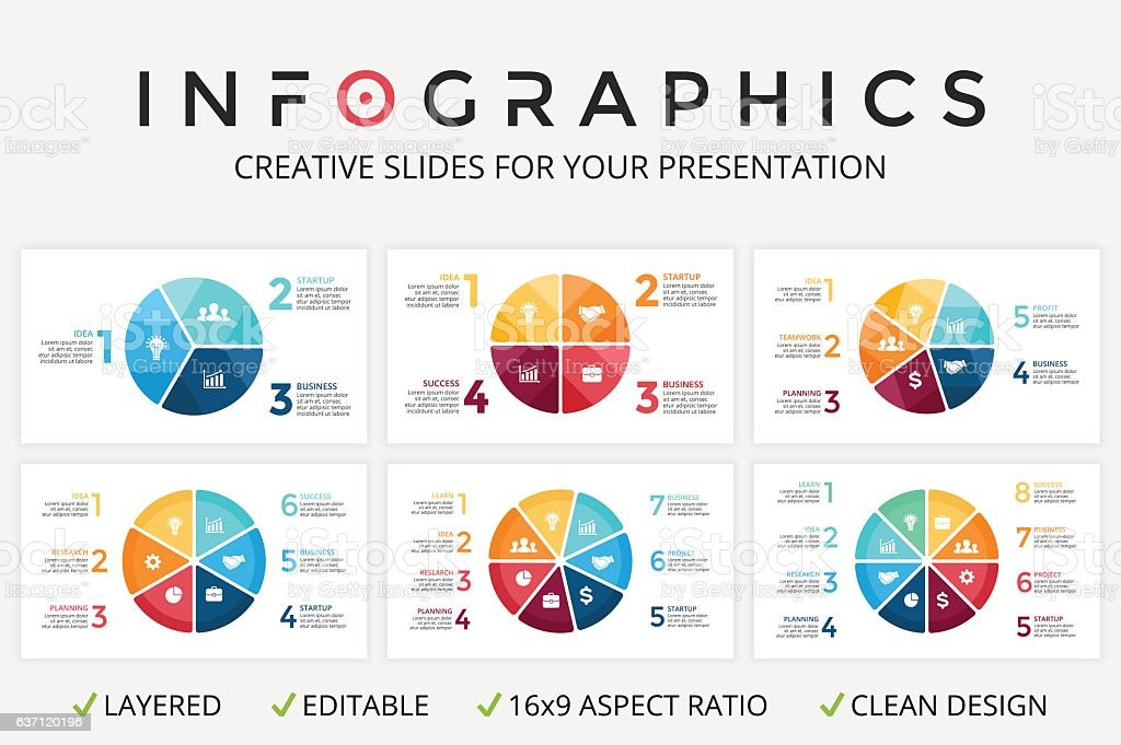 Vector circle arrows infographic, cycle diagram, graph, presentation chart. Business vector art illustration