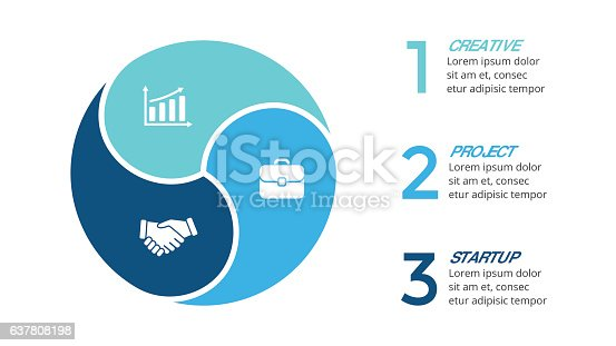 istock Vector circle arrows infographic, cycle diagram, graph, presentation chart. Business 637808198