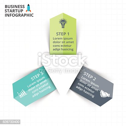 istock Vector circle arrows infographic, diagram, graph, presentation, chart. Business cycle 526733400