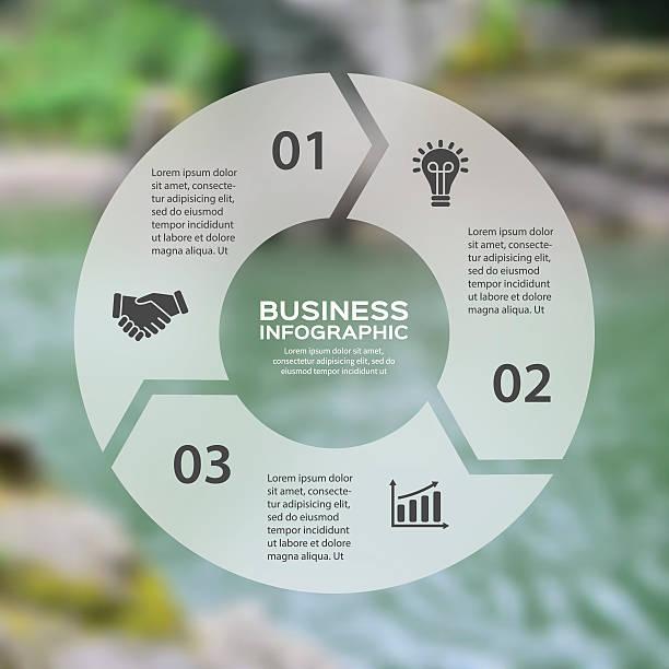 stockillustraties, clipart, cartoons en iconen met vector circle arrows linear infographic. template for cycle diagram, graph - drie personen