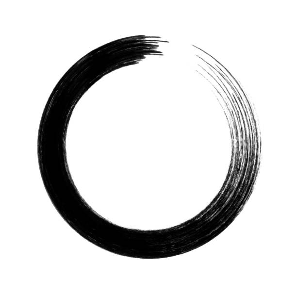 ilustrações, clipart, desenhos animados e ícones de vector círculo pincelada isolada no fundo branco - planos de fundo borrados