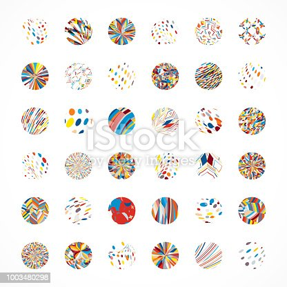 Vector Circle Buttons Collection
