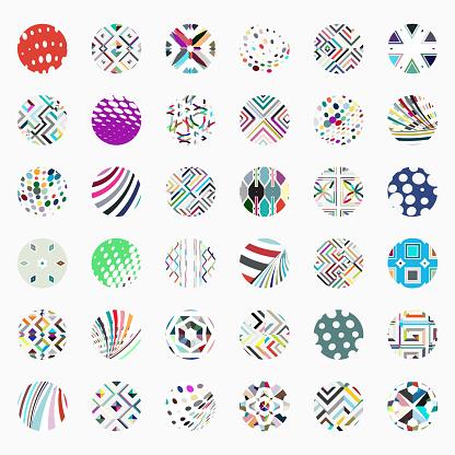 Vector circle buttons collection