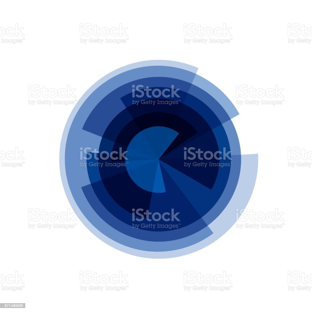 Vector circle cut into wedges vector art illustration