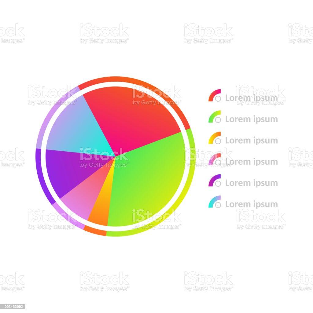 Ikona diagramu okręgu wektorowego - Grafika wektorowa royalty-free (Abstrakcja)