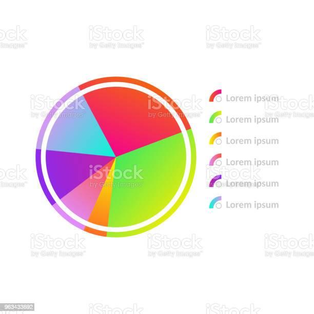 Ikona Diagramu Okręgu Wektorowego - Stockowe grafiki wektorowe i więcej obrazów Abstrakcja