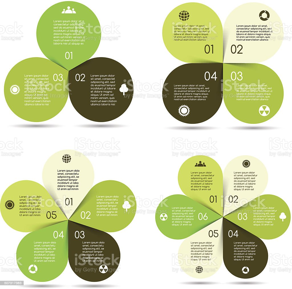 Vector circle eco infographics set vector art illustration