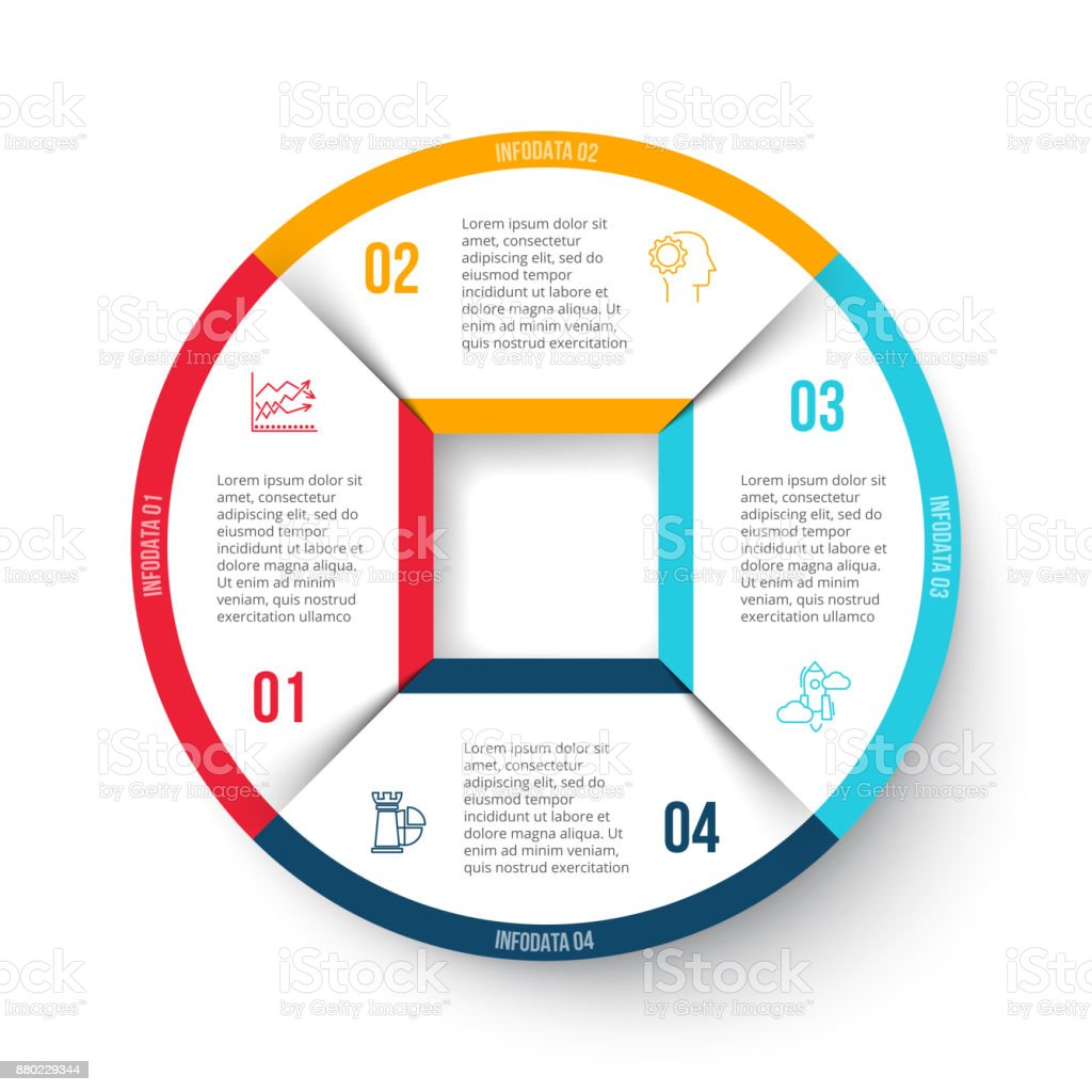 Vector Circle Element For Infographic Template For Cycle Diagram