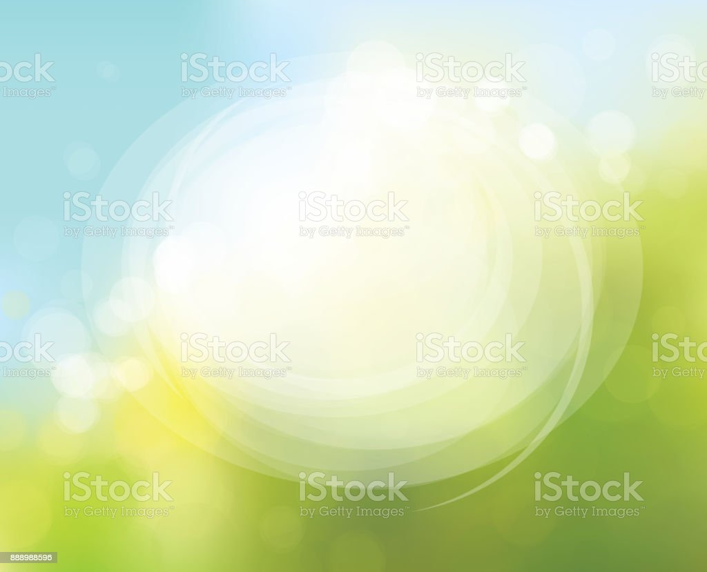 Vector circle frame on nature bokeh  background. - Royalty-free Backgrounds stock vector