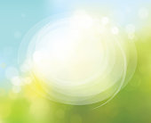 Vector circle frame on nature bokeh  background.