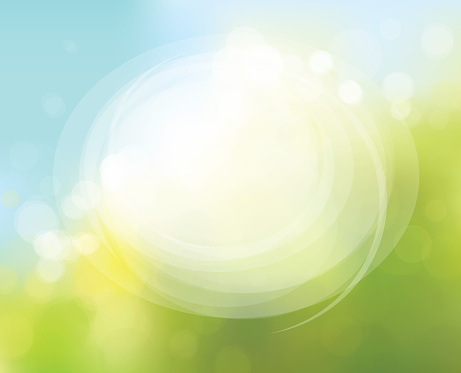 Vector circle frame on nature bokeh  background. clipart