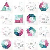 Vector circle infographic set.