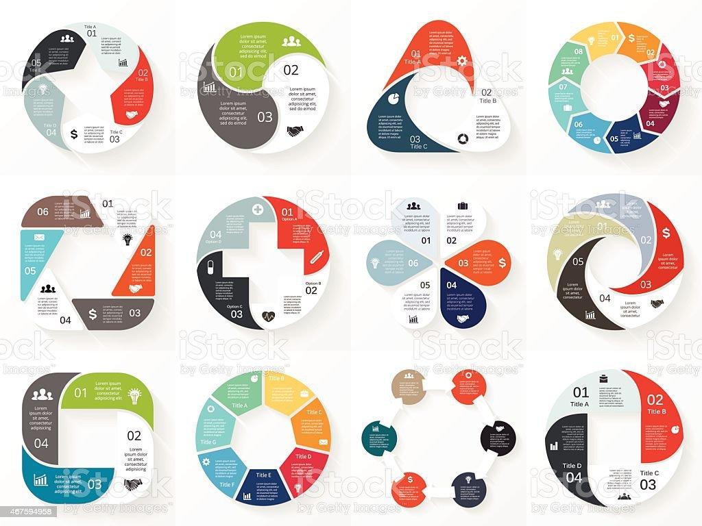 Ilustración de Vector Círculo Infografía Plantilla De Diagrama De ...