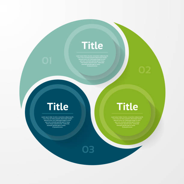 vektor-kreis-infografik. vorlage für diagramm, grafik, präsentation und grafik. business-konzept mit drei optionen, teile, schritte oder verfahren. zusammenfassung hintergrund. - 2 3 jahre stock-grafiken, -clipart, -cartoons und -symbole