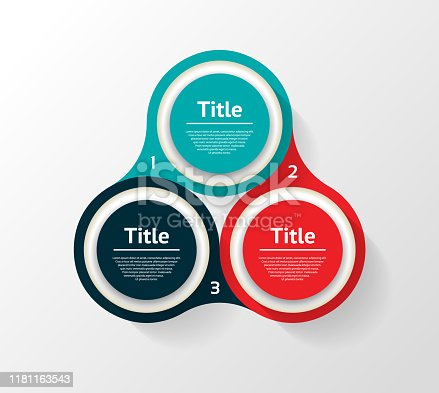 istock Vector circle infographic. Template for diagram, graph, presentation and chart. Business concept with three options, parts, steps or processes. Abstract background 1181163543