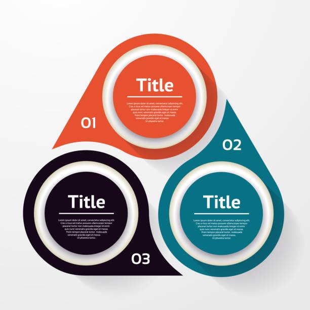 stockillustraties, clipart, cartoons en iconen met vector cirkel infographic. sjabloon voor diagram, grafiek, presentatie en grafiek. business concept met drie opties, onderdelen, stappen of processen. abstracte achtergrond. - drie personen