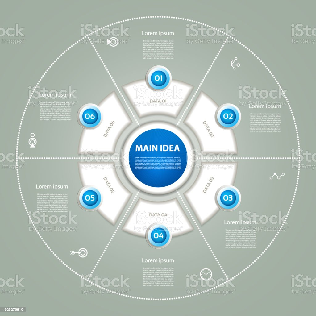 Vector Circle Infographic Template For Diagram Graph Presentation ...
