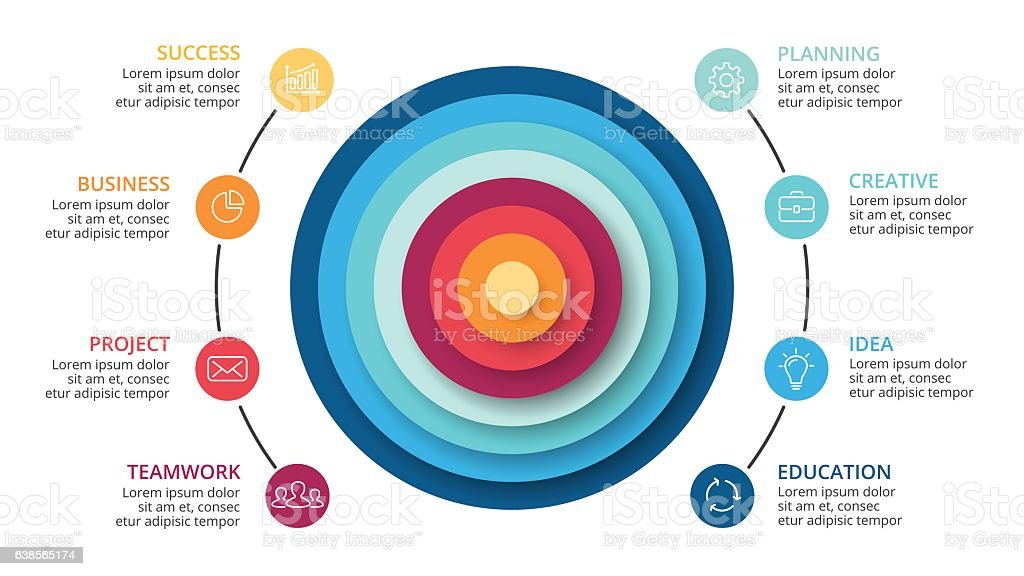 vector circles abstract pyramid infographic cycle diagram graph
