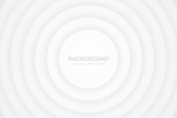 3D Vector Circles Minimalist White Abstract Background Blurred Effect 3D Vector Circles Minimalist White Abstract Background Blurred Effect. Futuristic Technology Light Wallpaper. Clear Blank Business Presentation Backdrop. Colorless Empty Blur Surface Illustration white background stock illustrations