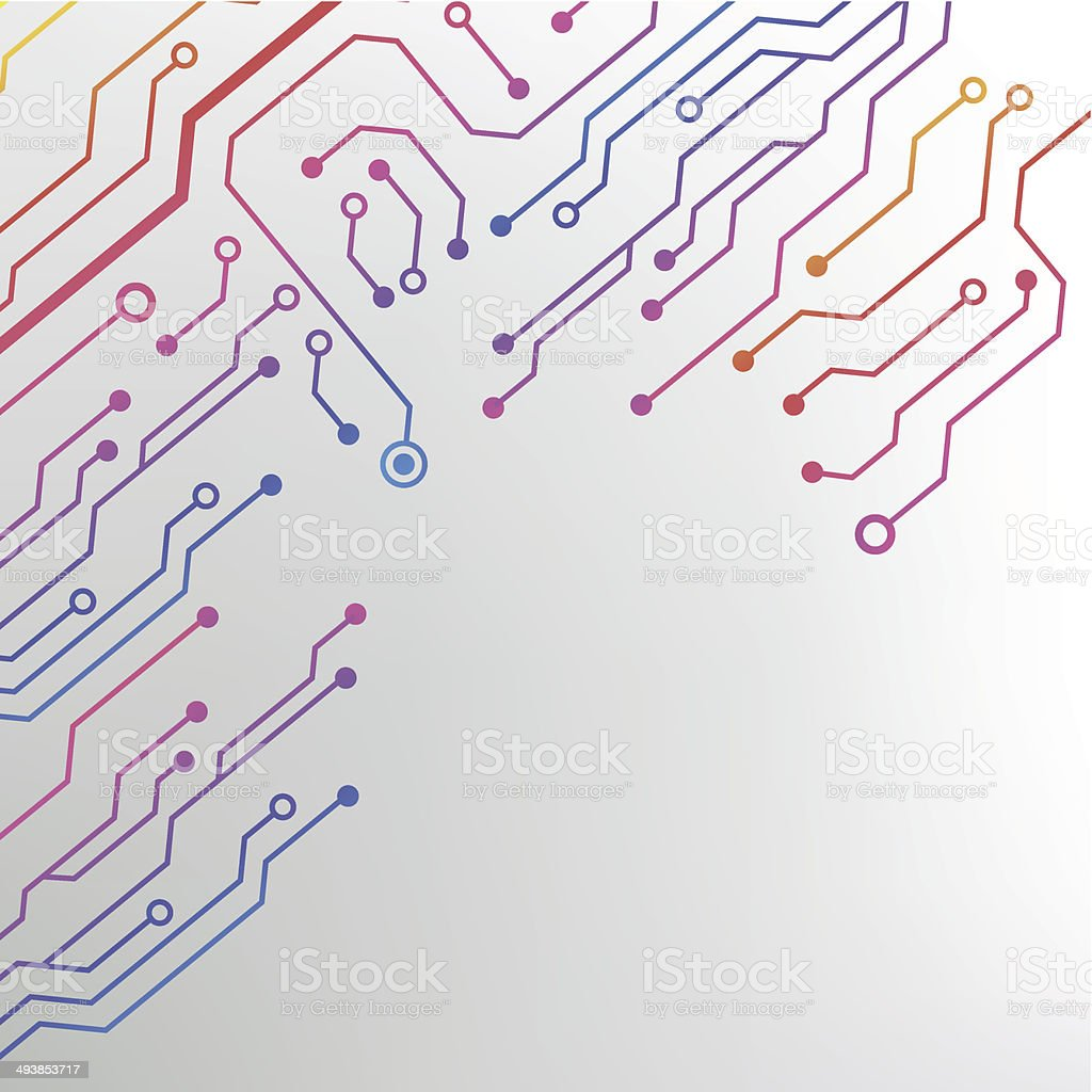 Eps10 Vector Circuit Board Background Texture Stock Art Royalty Free