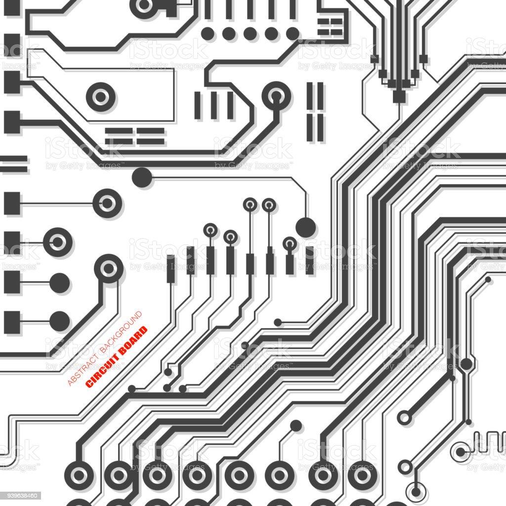 Illustration De Vecteur De Circuit Imprimé Technologie Abstraite ...