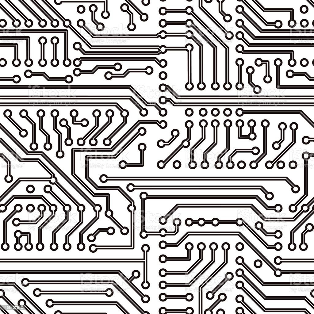 Vector Circuit Board Seamless Pattern Stock Vector Art & More Images ...