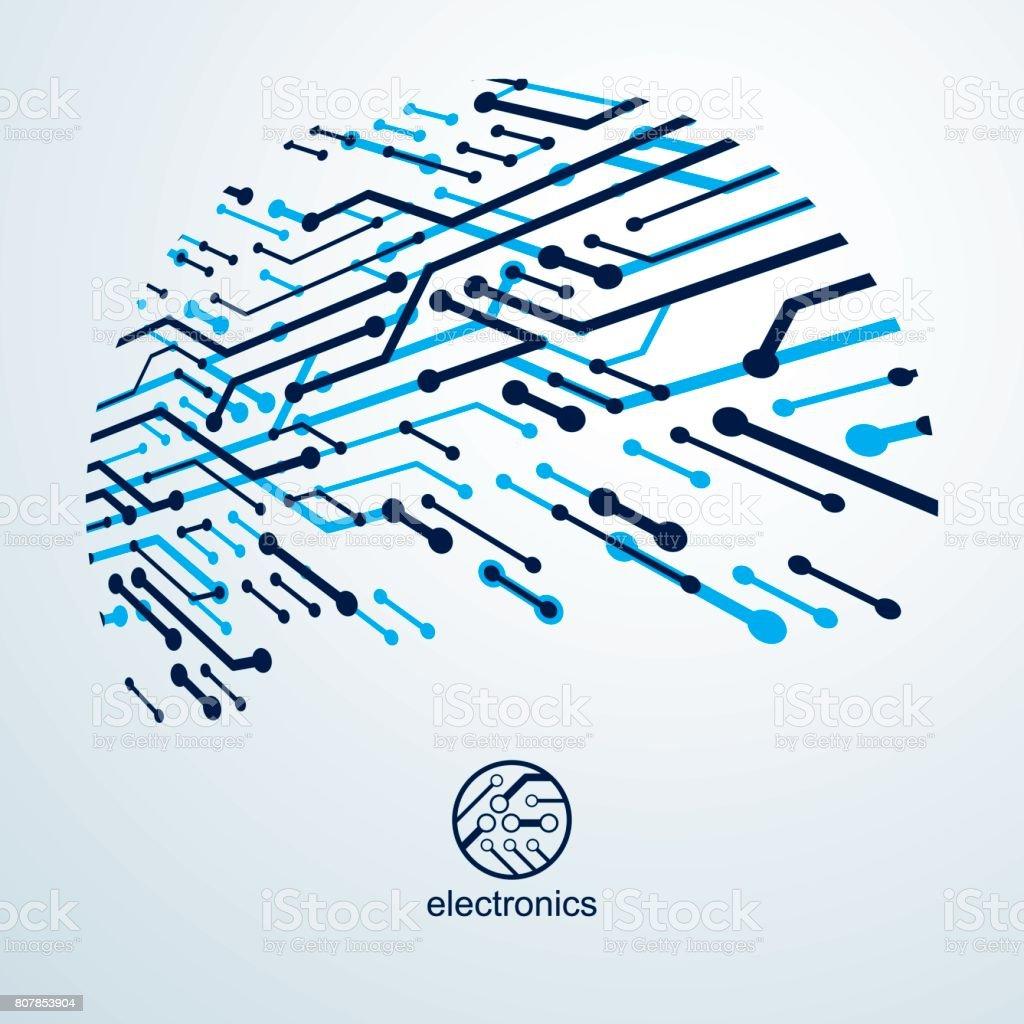 Vector Circuit Imprimé Avec Les Composants électroniques Du ...