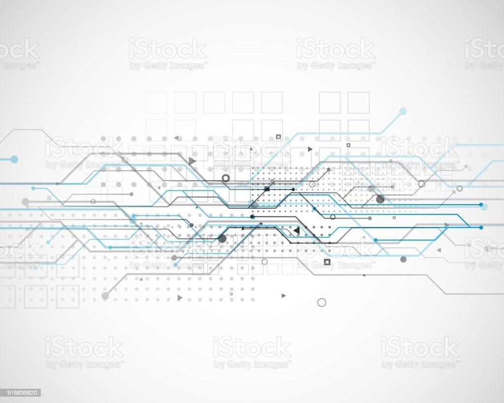 Vektornetzwerk Diagramm Technologie Hintergrund Schaltungsdesign ...