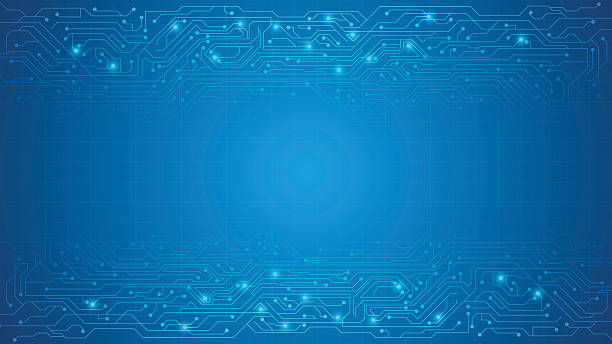 vector circuit texture background – Vektorgrafik