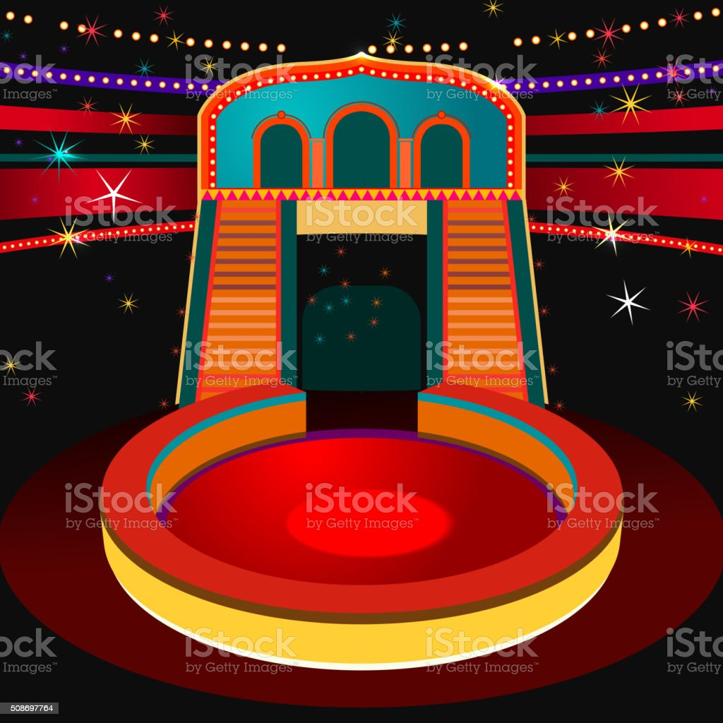 Vector Circus Arena vector art illustration
