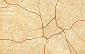 vector city map of Dallas on a vintage grunge paper with well organized separated layers