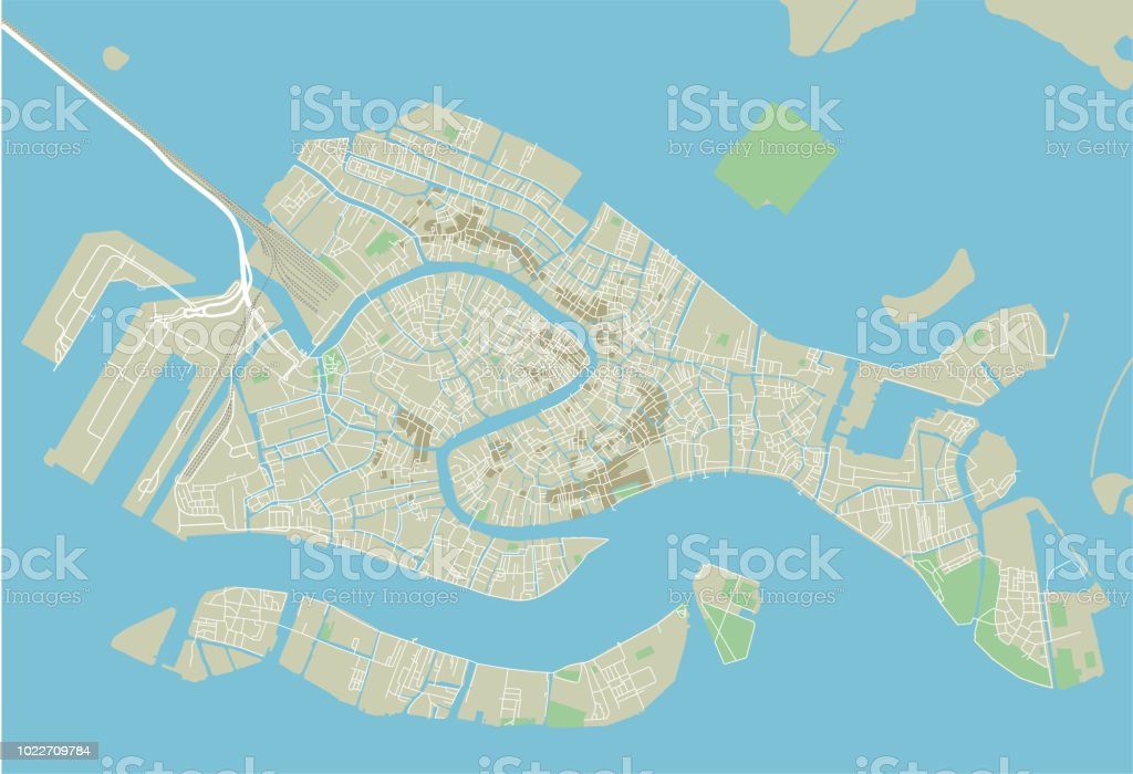 Vector City Map Of Venice With Well Organized Separated ...