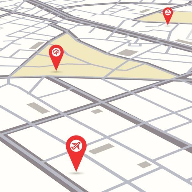 Vector de mapa de la ciudad - ilustración de arte vectorial