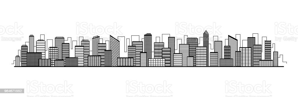 Vector city silhouette icon with windows. Vector Illustration royalty-free vector city silhouette icon with windows vector illustration stock vector art & more images of abstract