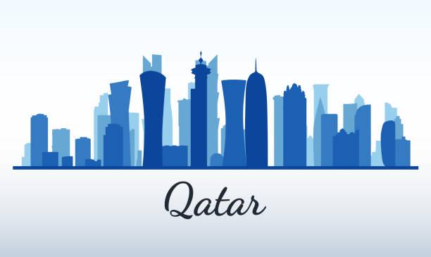 illustrations, cliparts, dessins animés et icônes de silhouette de vecteur de ville. qatar, doha - doha