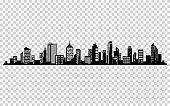 Vector city silhouette. Cityscape vector design. Skyline architecture