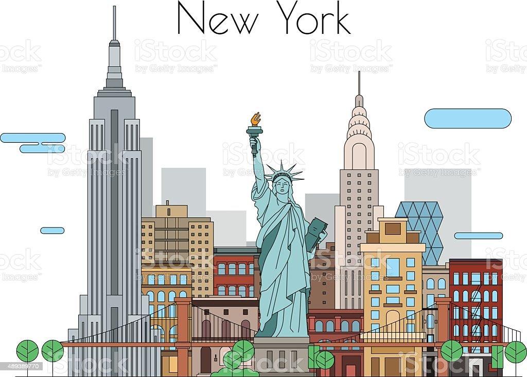 Vector city vector art illustration
