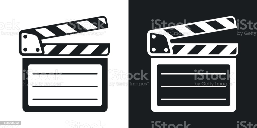 vector clap board icon twotone version stock vector art more