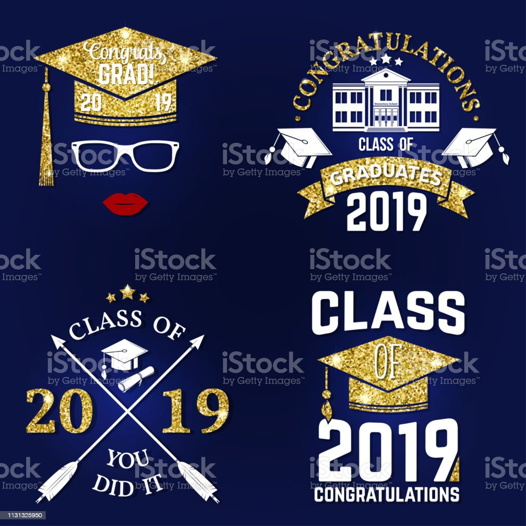 Vector Class Of 2019 Badge Concept For Shirt Print Seal