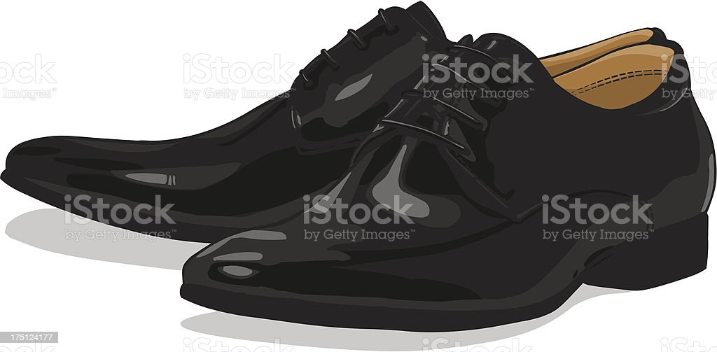 Vector classic black men shoes royalty-free stock vector art