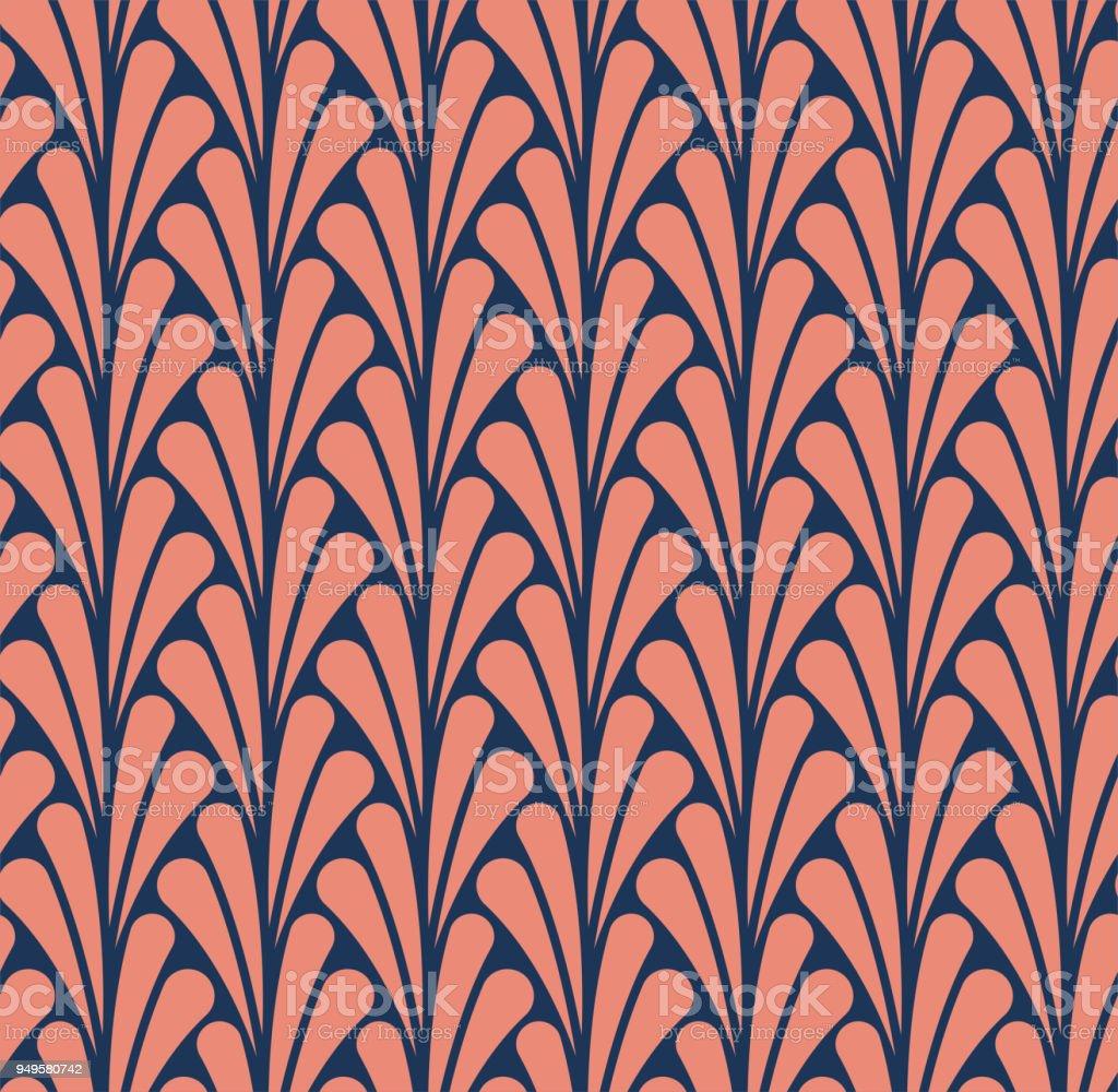 Vector clássico art nouveau sem costura padrão Floral. Textura abstrata estilo art déco. - ilustração de arte em vetor