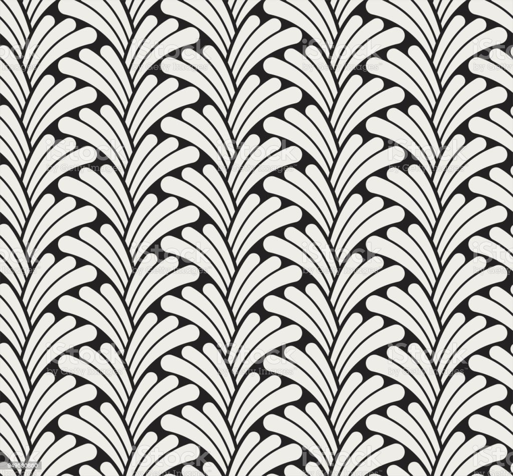 Vector Classic Floral Art Nouveau Seamless Pattern Stylish Abstract Deco Texture Royalty