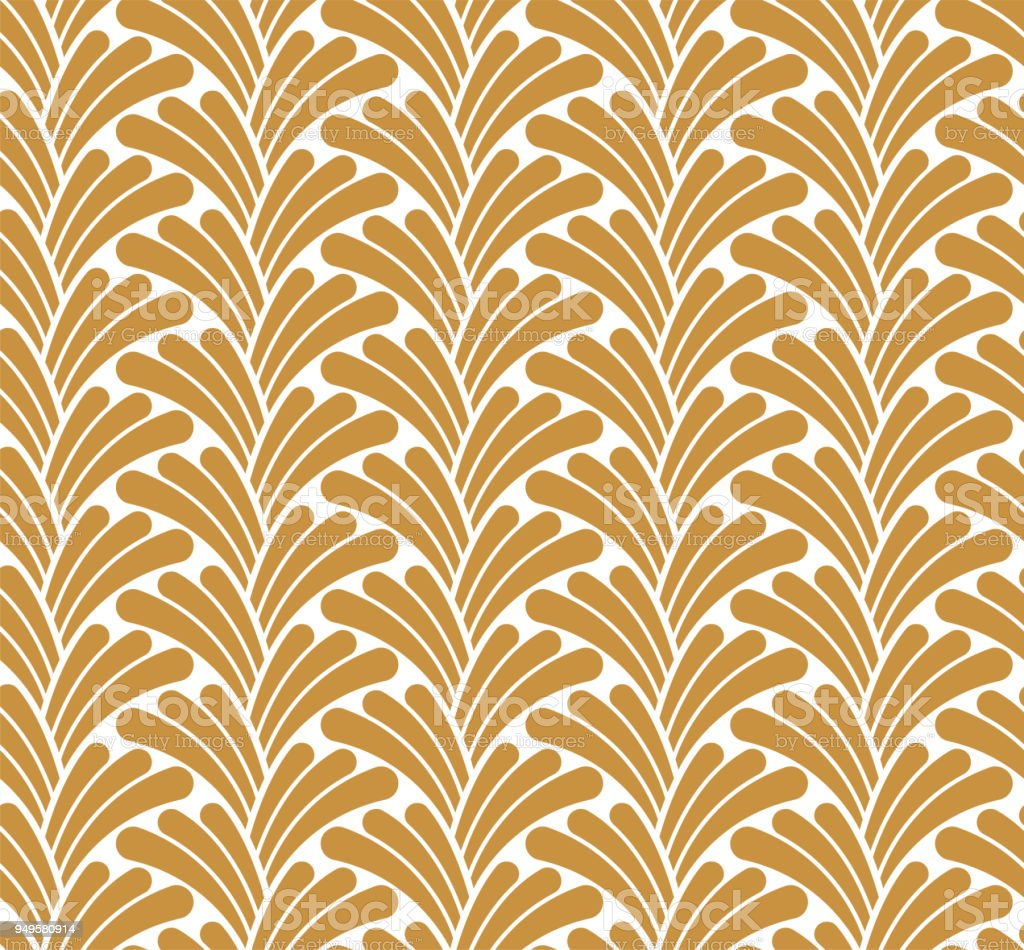 Vector Classic Floral Art Nouveau Seamless Pattern Stylish Abstract ...