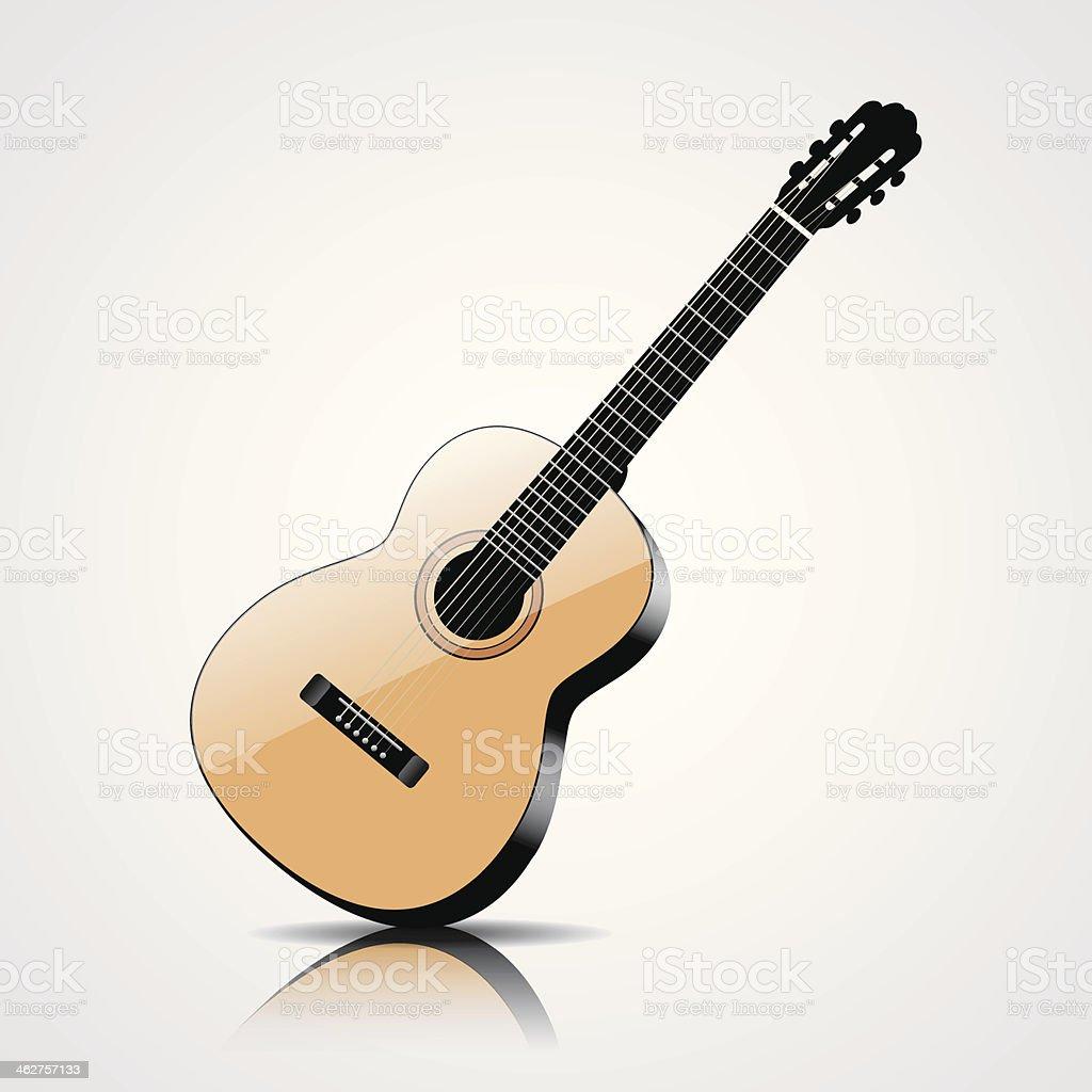 Ilustración de Vector De Guitarra Clásica Aislado Sobre Fondo Blanco ...
