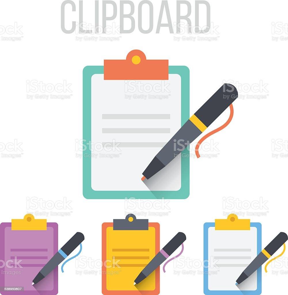 Vector clipboard icons vector art illustration