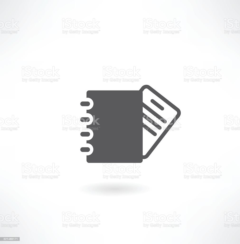 Vector clipboard with an empty sheet of paper vector art illustration