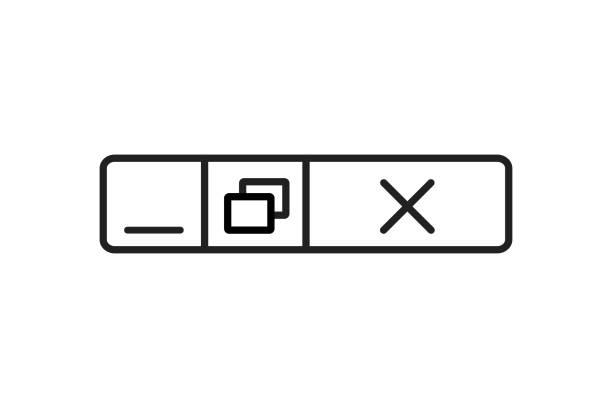 illustrazioni stock, clip art, cartoni animati e icone di tendenza di progettazione della finestra web di chiusura vettoriale. concetto di pulsante del computer. - near