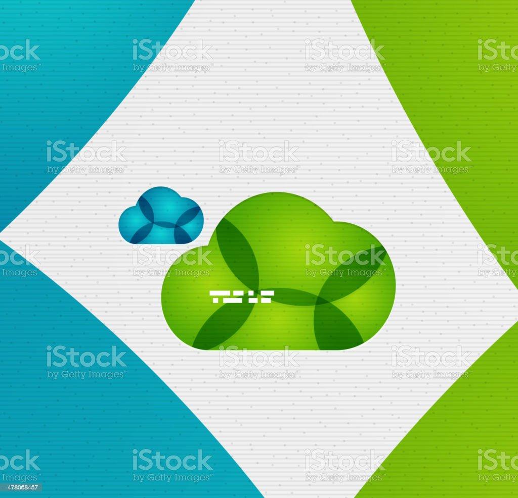 Vector cloud background royalty-free stock vector art